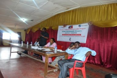 Legislative Candities for District # 3, Montserrado County at the  Debate, Organized by Press Union of Liberia